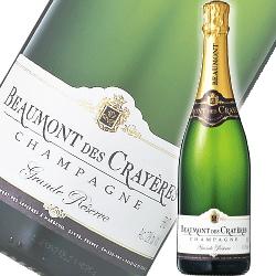 【シャンパン:辛口泡白】フランス産「 ボーモン・デ・クレイエール グランド・レゼルヴ ブリュット 泡白 」[Champagne Beaumont des Crayeres][NV]『スパークリングワイン』【シャンペン】【シャンパーニュ地方】