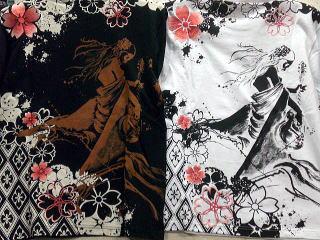 がしゃ × 錦 和柄長袖Tシャツ 地獄太夫×小紋桜 【コンビニ受取対応商品】
