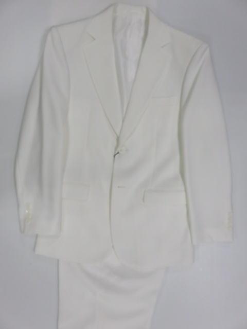 カラースーツ  2つ釦シングルスーツ 白