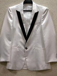 襟切り替えサテンジャケット