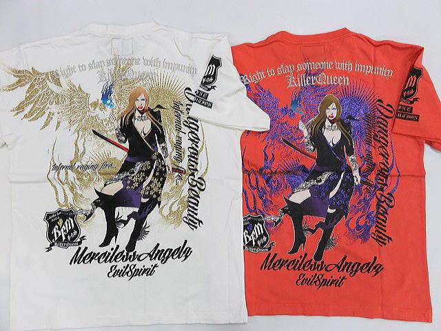 絡繰魂 カラクリ魂 和柄 半袖Tシャツ 抜刀娘 Killer Queen KARAKURI【コンビニ受取対応商品】