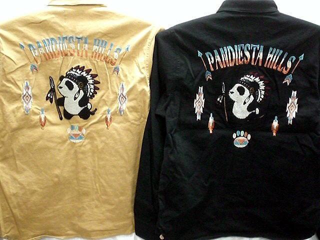 PANDIESTA JAPAN 長袖 ワークシャツ インディアンパンダ パンディエスタ【コンビニ受取対応商品】