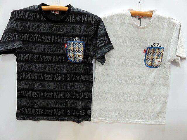PANDIESTA 大幅にプライスダウン JAPAN 半袖Tシャツ ロゴジャガード パンディエスタ ポケット ふるさと割