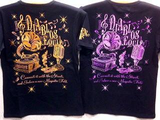 DIABLOS -ディアブロス- 半袖Tシャツ MUSIC ラメ糸刺繍【コンビニ受取対応商品】