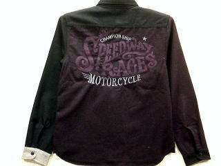 LOWBLOW KNUCKLE SPEEDWAY RACE長袖ウールシャツ ローブローナックル【コンビニ受取対応商品】