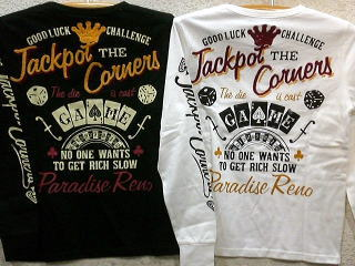 LOWBLOW KNUCKLE 長袖Tシャツ JackpotCorners ローブローナックル【コンビニ受取対応商品】