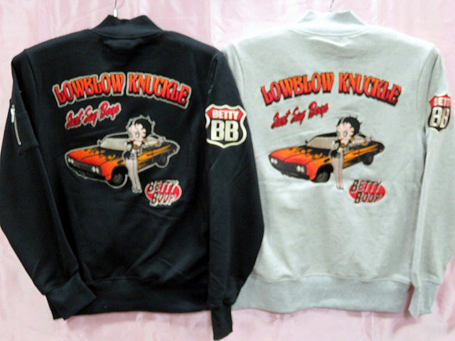 LOWBLOW KNUCKLE X BETTY BOOP BB MA-1【コンビニ受取対応商品】