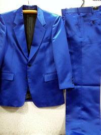 カラースーツ サテン カラースーツ シングル