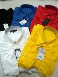 ドレスシャツ 訳あり商品 フリル 日本製フリルシャツ マーケティング