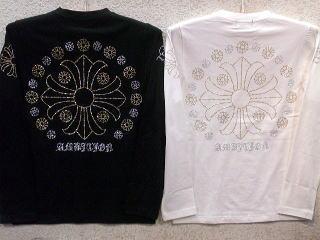 ビーアンビション 長袖Tシャツ ラインストーン百合刺繍 BE AMBITION 【コンビニ受取対応商品】