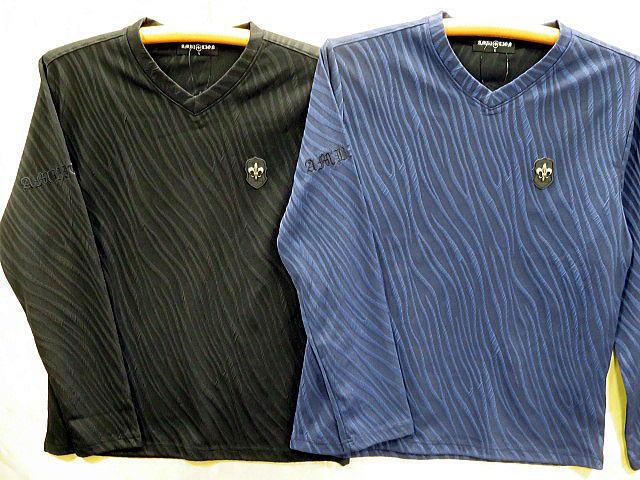 大きいサイズ BE AMBITION  長袖Tシャツ 百合ワッペン&ロゴ ビーアンビション【コンビニ受取対応商品】