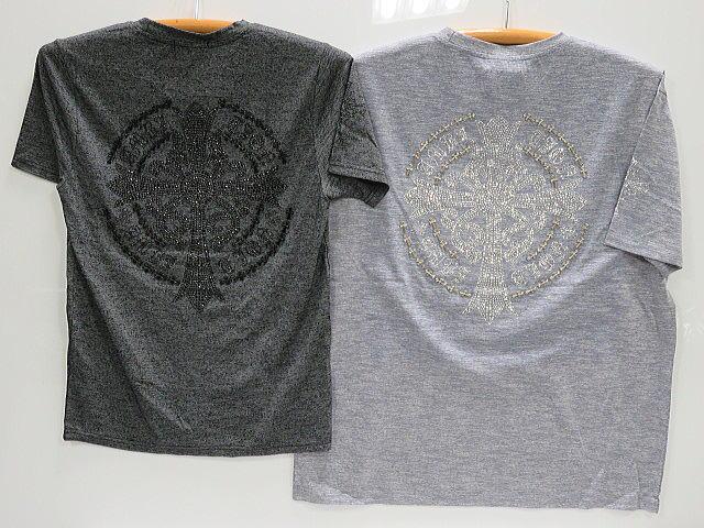 BE AMBITION 半袖Tシャツ  クロスラインストーン ビーアンビション【コンビニ受取対応商品】