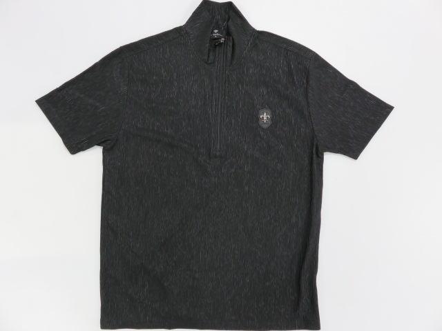 大きいサイズ Be Ambition ジップアップ 半袖Tシャツ 百合ワッペン&ロゴ刺繍 ビーアンビション【コンビニ受取対応商品】