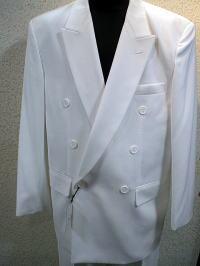 カラースーツ ダブル 白