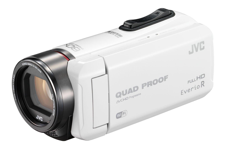 JVC ビデオカメラ Everio R 防水5m 防塵仕様 Wi-Fi対応 内蔵メモリー64GB ホワイト GZ-RX600-W 【新品】【送料無料】