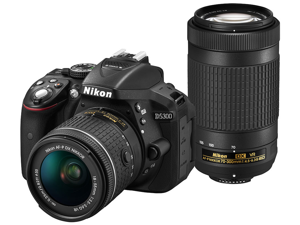 【新品】【送料無料】Nikon デジタル一眼レフカメラ D5300 AF-P ダブルズームキット ブラック D5300WZ3