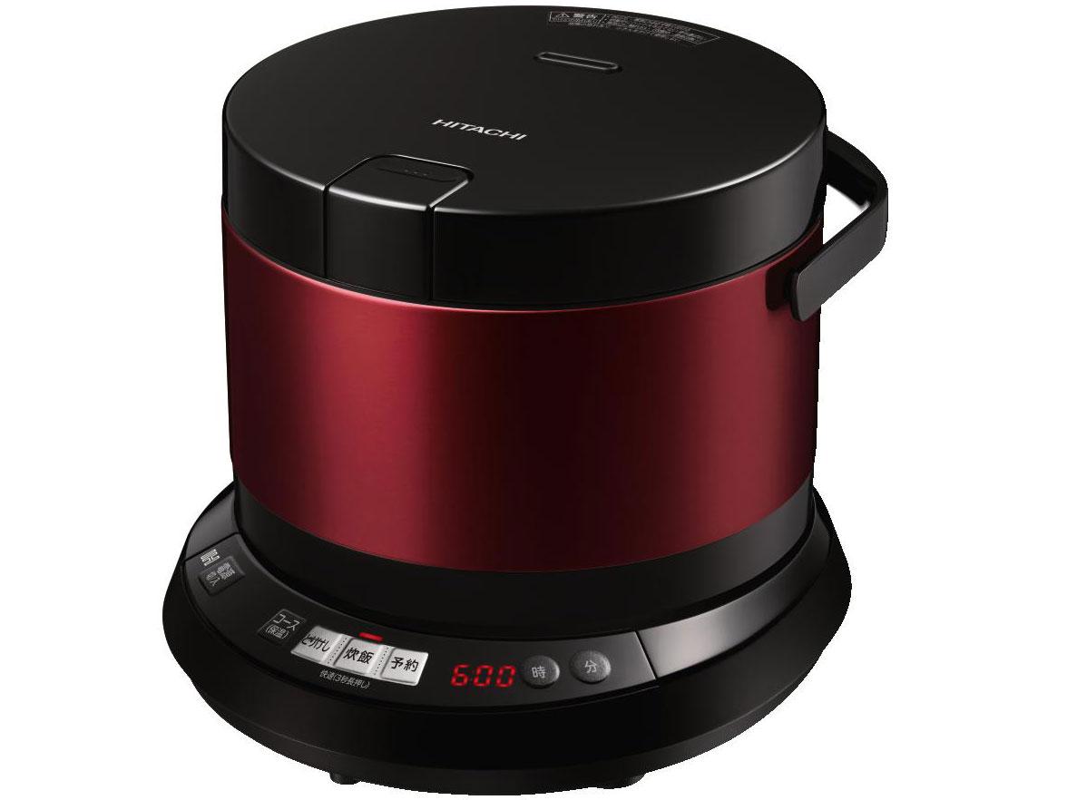 【新品】【送料無料】日立 炊飯器 IH 打込鉄釜 おひつ御膳 4合 RZ-WS4M R