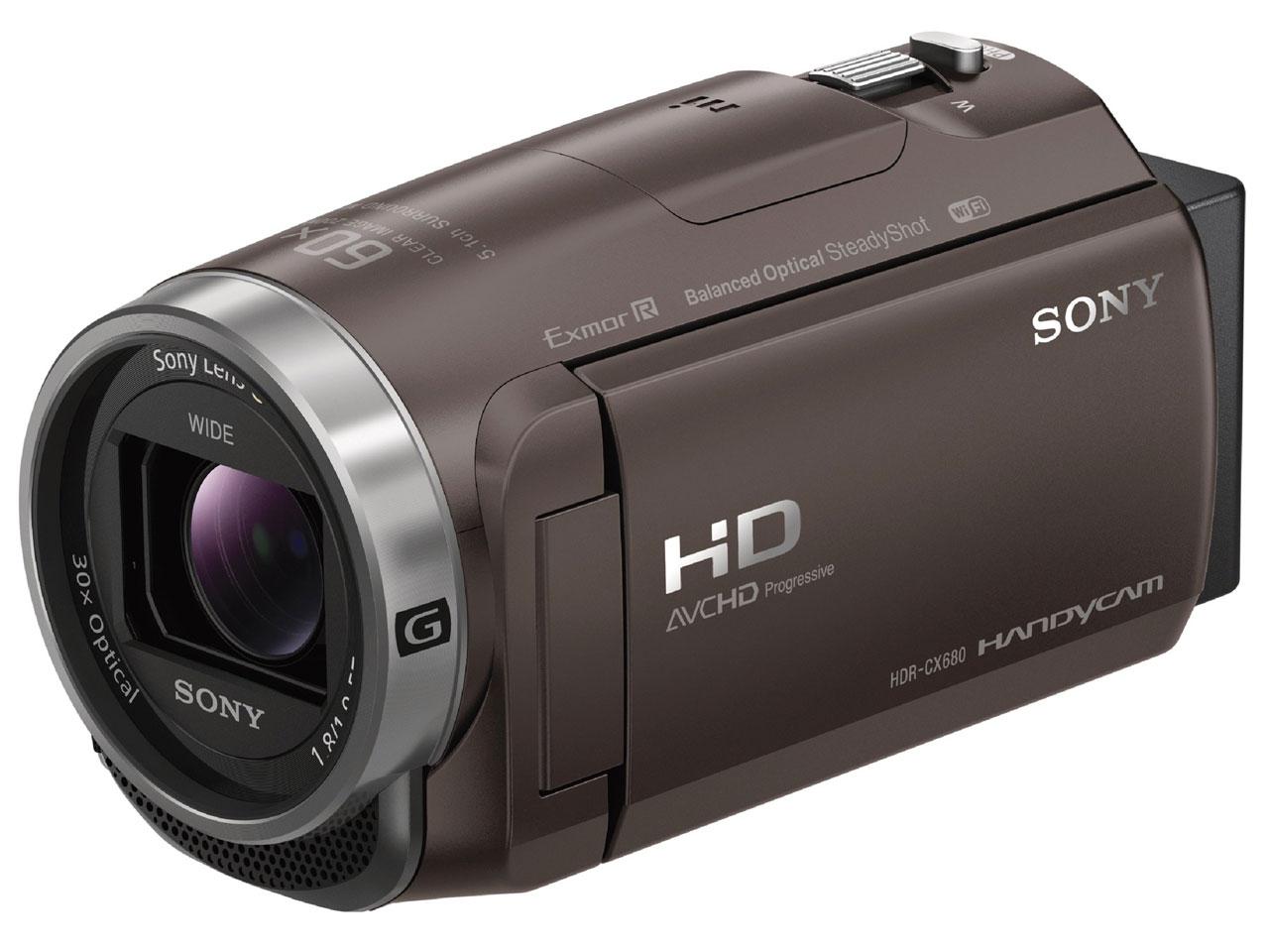 【新品】【送料無料】ソニー SONY ビデオカメラ Handycam 光学30倍 内蔵メモリー64GB ブロンズブラウンHDR-CX680 TI