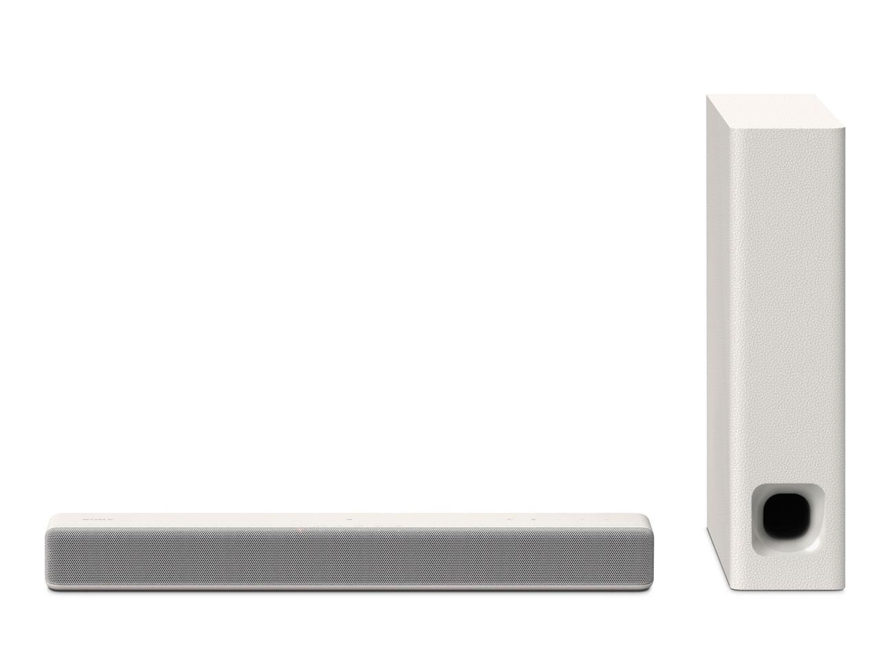 【新品】【送料無料】ソニー SONY サウンドバー 2.1ch NFC/Bluetooth ホームシアターシステム クリームホワイト HT-MT300 WM