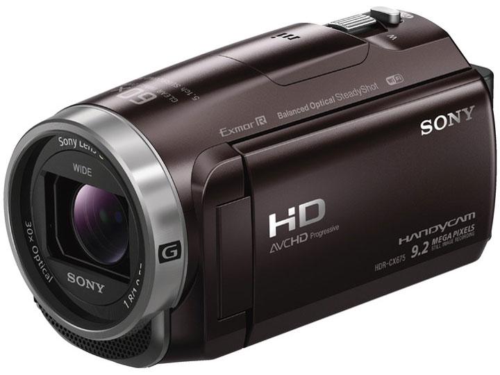 【新品】【送料無料】ソニー SONY ビデオカメラHDR-CX675 32GB 光学30倍 ボルドーブラウン Handycam HDR-CX675 T