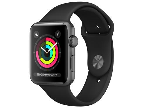Apple Watch Series 3 GPSモデル 42mm MTF32J/A [ブラックスポーツバンド] 【新品】【送料無料】