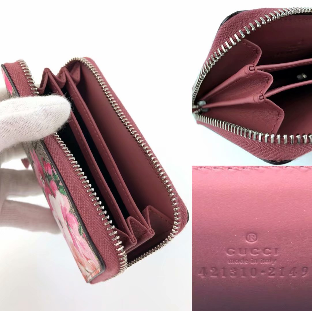 865951d17ff998 ... Gucci wallet coin purse coin case round fastener Lady's GG bloom flower  421310 GUCCI is used