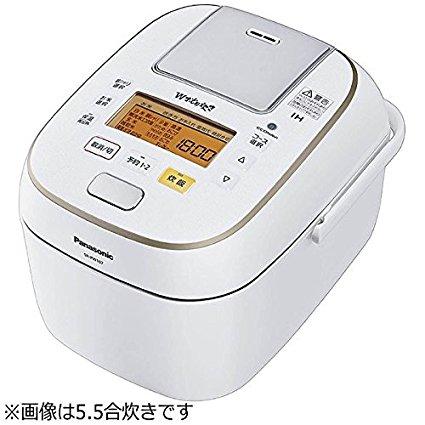 【新品】【送料無料】パナソニック 1升 炊飯器 圧力IH式 Wおどり炊き ホワイト SR-PW187-W