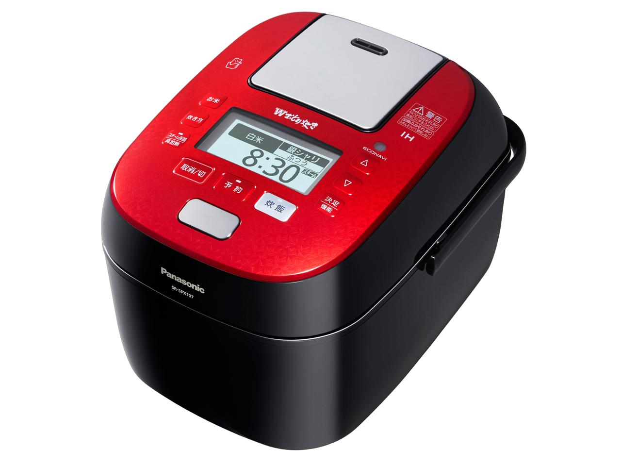 【新品】【送料無料】パナソニック 5.5合 炊飯器 圧力IH式 Wおどり炊き ルージュブラック SR-SPX107-RK