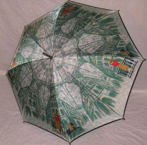 ほぐし織り 雨傘 駅
