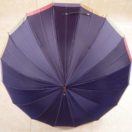 【モンブランヤマグチ】 16本骨 無地 ふち変わり雨傘