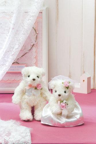 【完成品】天使のホワイトベアー [TW-1 (ピンク)] 【パナミ手芸メーカー直販 タカギ繊維】