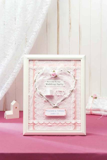 【完成品】天使のウェルカムボード [HW-19 (ピンク)] 【パナミ手芸メーカー直販 タカギ繊維】