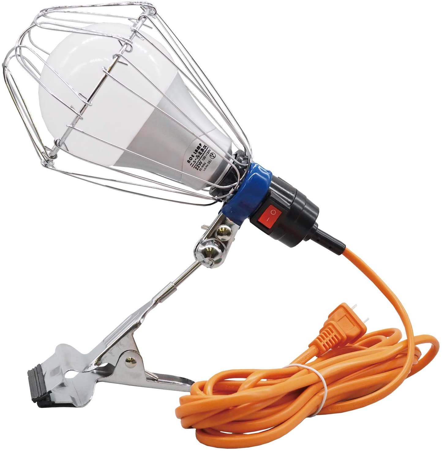 WING ACE LED電球付 注文後の変更キャンセル返品 卸売り 屋内用クリップランプ アルファ 5mコード LA-2205A-LED ニュールミネα