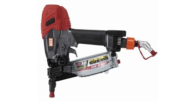 マックス MAX 38mm高圧コイルネイラ キャンペーンもお見逃しなく 新作からSALEアイテム等お得な商品満載 HN-R38D1 正規販売店保証付き 釘打ち機 HN91138