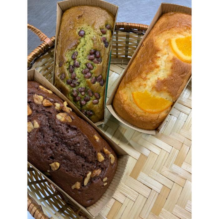 送料無料 今季も再入荷 お値打ちおいしいパウンドケーキ 注文後の変更キャンセル返品 3本セット オレンジ 抹茶 チョコ