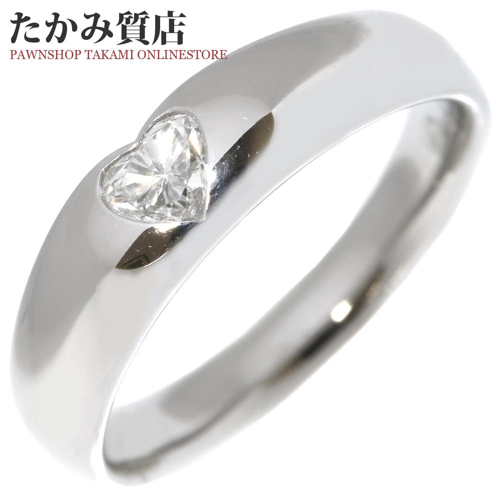 ポンテヴェキオ 指輪 リング Pt900 ダイヤ0.216ct 7.5号 中古 新品仕上げ