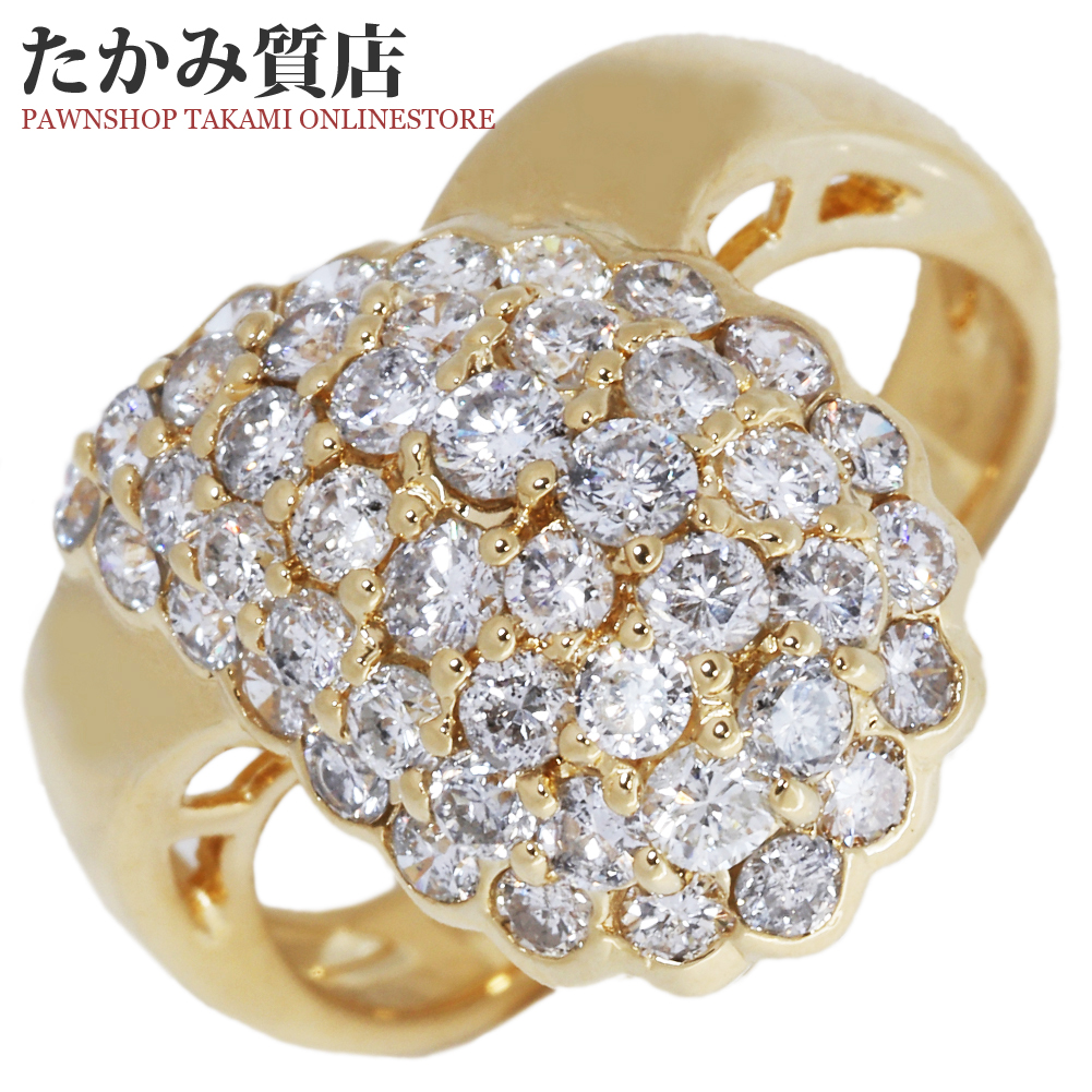 指輪 リング K18YG ダイヤ1.50ct 11.5号 中古 新品仕上げ