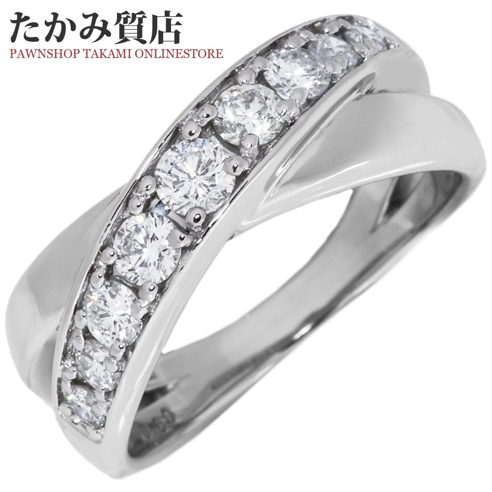 指輪 リング Pt950 ダイヤ0.60ct 12号 中古 新品仕上げ