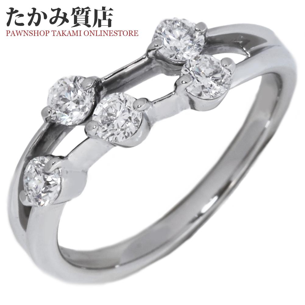 指輪 リング Pt900 ダイヤ0.56ct 11.5号 中古 新品仕上げ