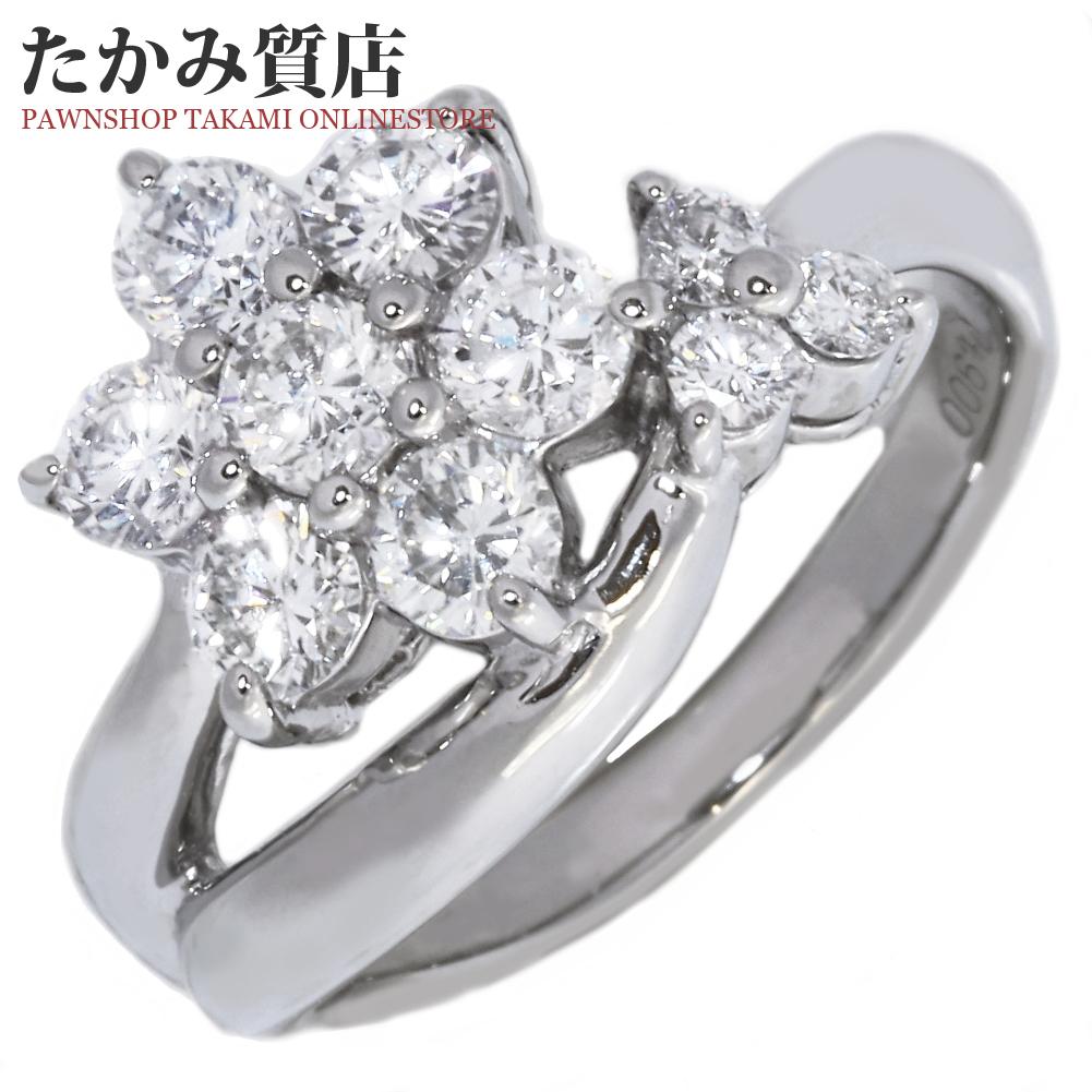 指輪 リング Pt900 ダイヤ1.20ct 12号 中古 新品仕上げ