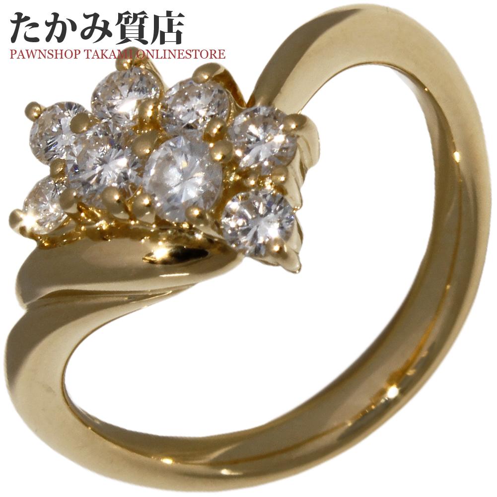 指輪 リング K18YG ダイヤ0.53ct 12号 中古 新品仕上げ