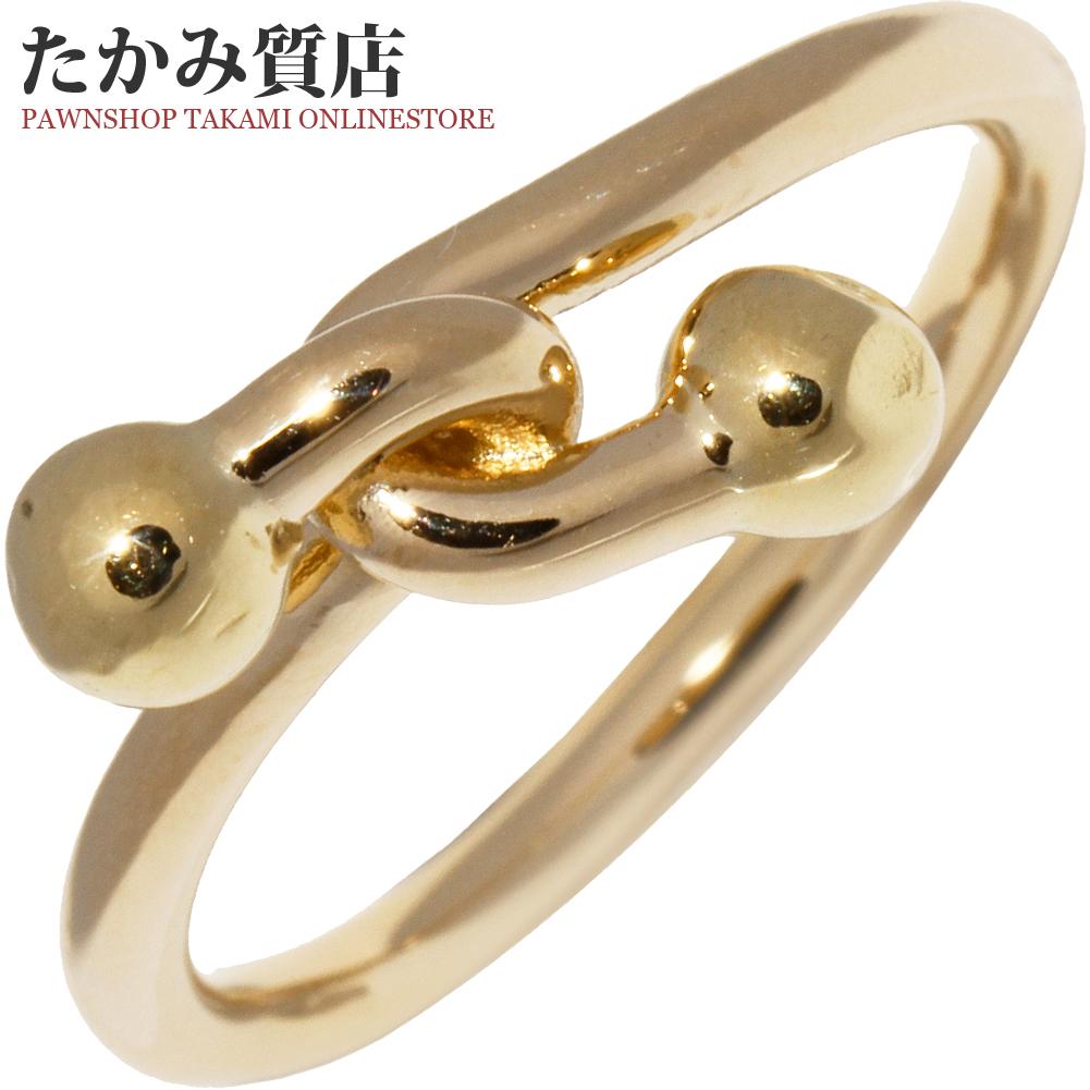 ティファニー 指輪 リング K18YG フック&アイリング 約10号 中古 新品仕上げ