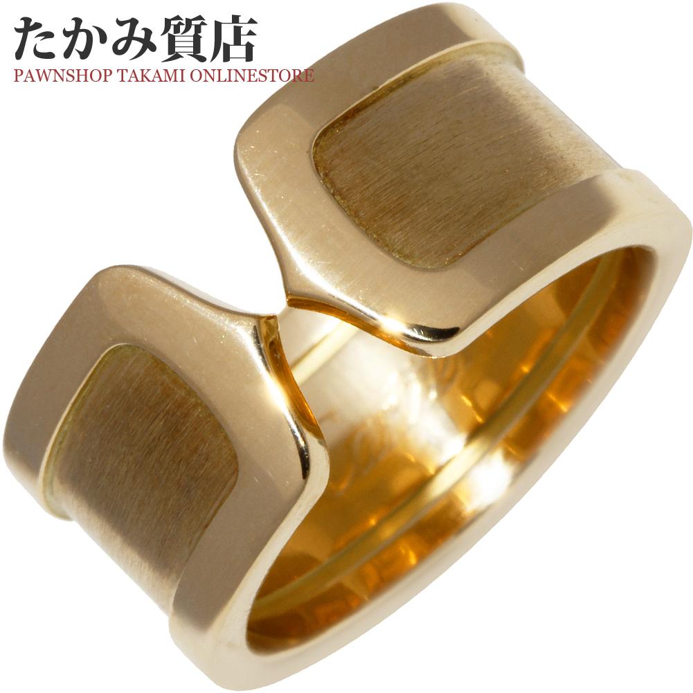 超人気の カルティエ K18YG C2リング LM #55(15号)指輪(リング), 呼子町 132cea37