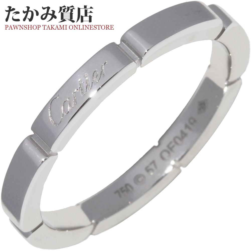 送料無料 Cartier 指輪 中古A カルティエ 16.5号 マイヨンパンテールウェディングリング B40835 #57 感謝価格 K18WG 驚きの価格が実現