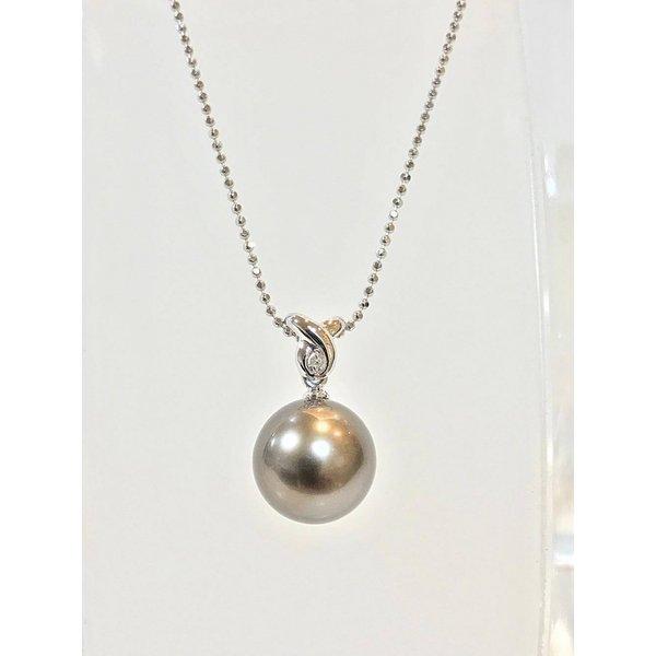 ネックレス 南洋本真珠 天然ダイヤモンド B23994