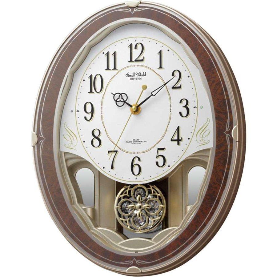CITIZEN スモールワールドハイム 木目仕上 4MN520RH23電波掛時計