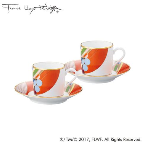 【ノリタケ】≪フランク・ロイド・ライト≫マーチバルーンズ コーヒー碗皿ペアセットペア碗皿 内祝い お返し 出産内祝い 結婚お祝い 結婚内祝い 母の日 父の日 誕生日プレゼント コーヒーペアセット