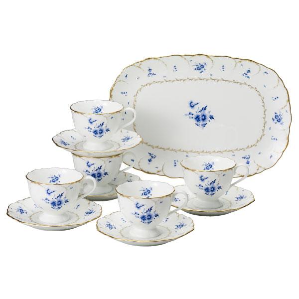 NARUMI【ナルミ】フィオリスタコーヒータイム5客碗皿セット5客碗皿 内祝い お返し 出産内祝い 結婚お祝い 結婚内祝い プレゼント コーヒー5客セット