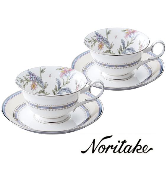 【ノリタケ】≪ジャルダン フルーリ≫ティー・コーヒー碗皿ペアセットペア碗皿 内祝い お返し 出産内祝い 結婚お祝い 結婚内祝い 母の日 父の日 誕生日プレゼント コーヒーペアセット