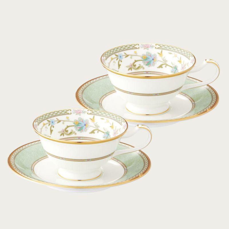 【ノリタケ】≪ヨシノ≫ティー・コーヒー碗皿ペアセットペア碗皿 内祝い お返し 出産内祝い 結婚お祝い 結婚内祝い 母の日 父の日 誕生日プレゼント コーヒーペアセット